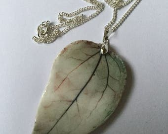 Ceramic Leaf Pendant, Large