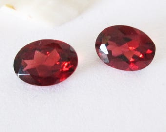 Natural Red Garnet 7x5mm Oval Matched Pair 1.80cts