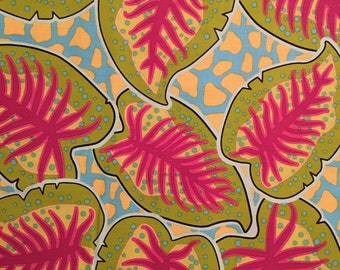 1 yard Cotton Quilting Fabric: Jungle Fever by Luella Doss