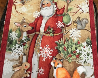 """Christmas Old World """"Santa"""" OR"""" Snowman"""" wall or door fabric panel for 8.00/panel"""