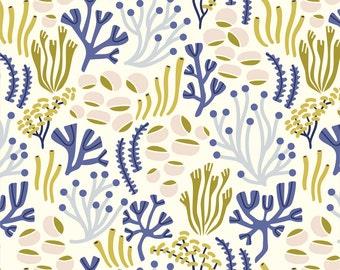 Organic Underwater fabric collection -  Ocean Floor yardage