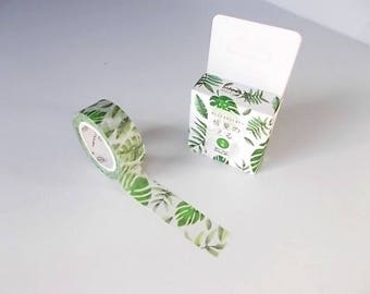 CIJ Sale, Banana Leaf Tape, Planner Supplies, Craft Paper Masking Tape, Tropical Scrapbook Supply