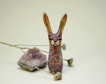 Purple Watercolor Rabbit