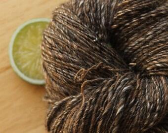 Triple Chocolate - Handspun Alpaca Yarn Silk Sport Weight