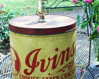 Large Ivins Cookie Tin Lamp