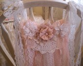 Clearance Sale..Romantic Chic Shades Of Blush Pink & Creamy White Vintage Lace Garland OOAK SincerelyRaven On Etsy
