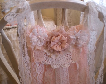 Romantic Chic Shades Of Blush Pink & Creamy White Vintage Lace Garland OOAK By SincerelyRaven On Etsy