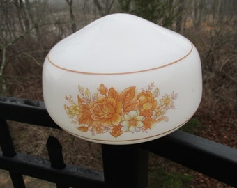 Vintage Milk Glass Flush Mount Ceiling Fixture Lamp Shade