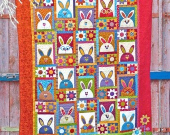 Rabbits at Hyde Park |Quilt Patterns | PDF Pattern | Rabbit Quilt | Rabbits | Applique Quilts | Kids Quilts