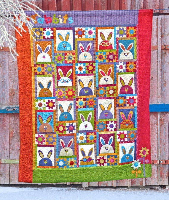 The Rabbits at Hyde Park - - Digital PDF Quilt Pattern SPECIAL PRICE