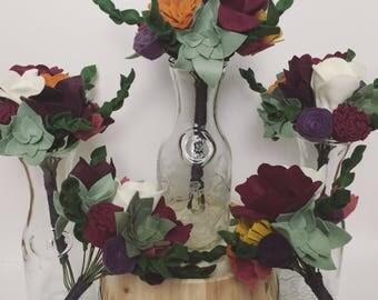 Custom Felt Flower Order - Wedding Bouquets, Bridesmaid Bouquets, Felt Flower Boutonnière, Felt Flower Brooches