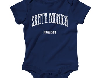 Baby One Piece - Santa Monica California Infant Romper - NB 6m 12m 18m 24m - Baby Shower Gift, Santa Monica Baby, California Baby, LA County