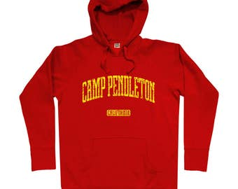 Camp Pendleton California Hoodie - Men S M L XL 2x 3x - Gift For Men, Gift for Her, Camp Pendleton Hoodie, Marines, USMC Hoody, Marine Corps