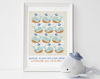 Baby wall art whale print