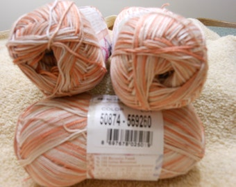 Alize Miss Melange 50874 shaded orange, salmon and peach colors no white