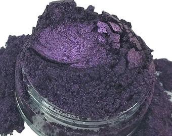 Jane Doe Dark Violet Purple Mineral Eye Shadow 10g Sifter Jar Gray eyeshadow Vegan Natural mineral Mica Makeup