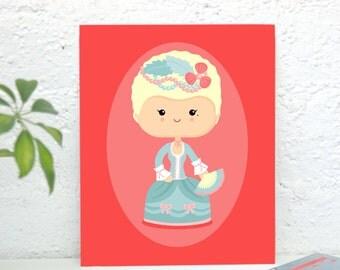 Marie Antoinette Art Print, High Quality Art Poster, Home Decor, Wall Art, Poster Design, Illustration - Princess