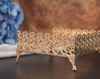 Vintage Gold Hollywood Regency Tissue Box Holder