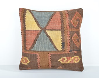 Kilim pillow cover, kp1679, Kilim Pillow, Turkish Pillow, Kilim Cushions, Kilim, Moroccan Pillow, Bohemian Pillow, Turkish Kilim