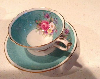 Double paragon tea cup and saucer