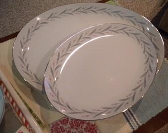 Vintage Two Piece Platter Set ~  MODAR Japan Fine China Dinnerware Mid Century Modern 7243