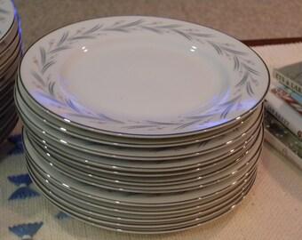Eleven Vintage Yummy Dessert Plates Or Bread & Butter Plates ~  MODAR Japan Fine China Dinnerware Mid Century Modern 7243