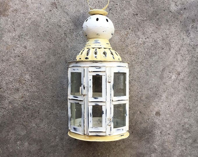 "Beach Decor Big Candle Lantern 26""x D11"" Vintage by SEASTYLE"