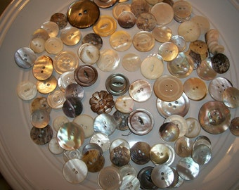 Vintage Mother Of Pearl Shell Buttons