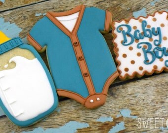 Custom Baby Boy Sugar Cookies (Set of Six)