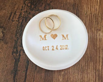 wedding ring dish rustic wedding ring holder something old ring bearer dish - Wedding Ring Dish