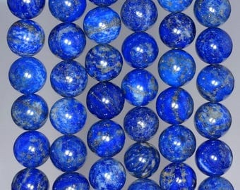 10mm Azura Lapis Lazuli Gemstone AA Blue Round 10mm Loose Beads 15.5 inch Full Strand (90147165-258)