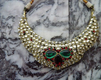 Queenly Rhinestone Necklace, Old Hollywood Glitz and Glamour.