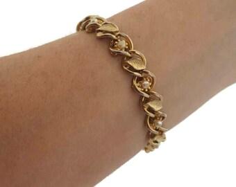 Vintage Bracelet Goldette Bracelet Pearl Bracelet Wedding Jewelry Antique Jewelry Goldette Jewelry Victorian Jewelry Pearl Jewelry