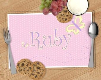 Butterfly Kids Personalized Placemat, Customized Placemats for kids, Kids Placemat, Personalized Kids Gift