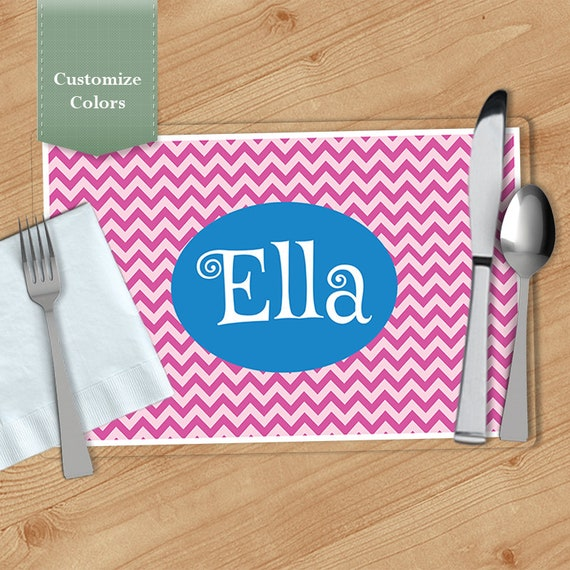 chevron personalized placemat customized placemats custom