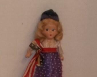 Vintage Nancy Ann Patriotic Storybook Doll made of Bisque