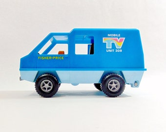 Fisher Price, Fisher Price Toys, Vintage Fisher Price, TV, Vintage Toys, Vintage Toy Truck, Vintage Toy Cars, 1970s Toys, 70s toys