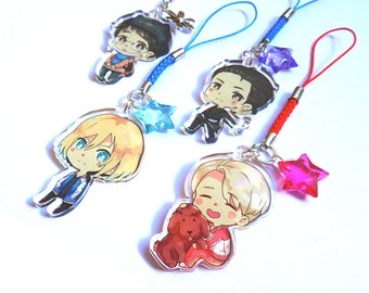 Yuri!!! on Ice clear acrylic charms