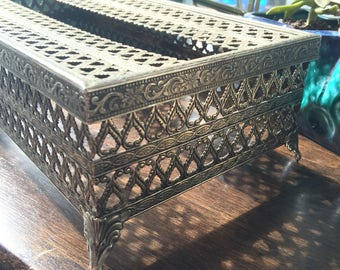 Vintage Ormolu Tissue Box Cover