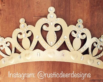 Princess crown, bed canopy, nursery decor, party decor, bed crown, wall art, wall decor, princess bed, metal, custom, wakeup sweet pea, wall