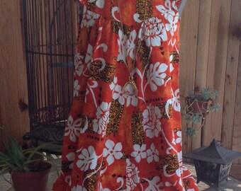 Royal Hawaiian Dress Vintage