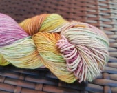 Icing sugar: 100g hand painted extra fine superwash merino/nylon sock yarn
