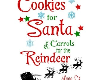 SVG - Cookies for Santa Carrots for the Reindeer - Cookies for Santa - Santa - Carrots for the Reindeer - Christmas - Christmas Cookie Plate