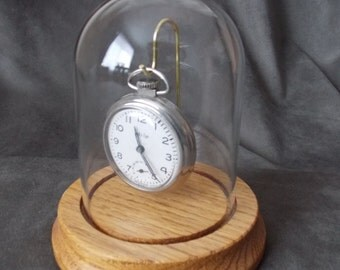 Glass Dome Pocket Watch Display Case