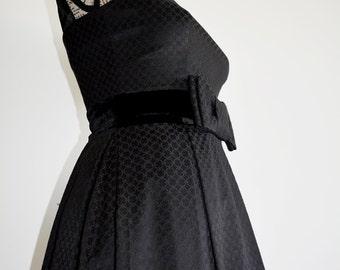 SALE Audrey Hepburn Dress , Vintage Elegant Dress , Little black dress , Audrey Hepburn dress , 50s Dress , Chic cocktail Dress , Party dres