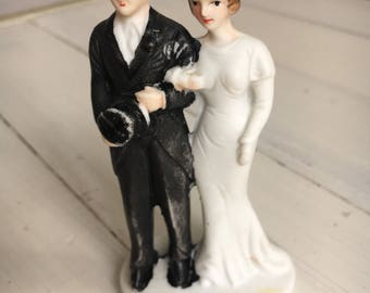 1920's Bisque Cake Topper