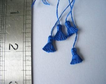 Set of 4 Dk Blue Tassels, trimming for Dolls House Furnishings 134