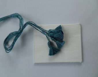 Set of 4 Teal Tassels, trimming for Dolls House Furnishings 851