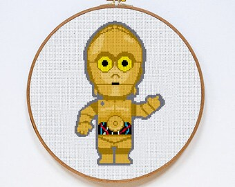 Star Wars C3PO cross stitch pattern, Instant Download, PDF