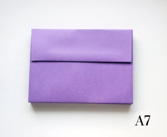 purple envelope set a7 straight flap 5 x 7 invite